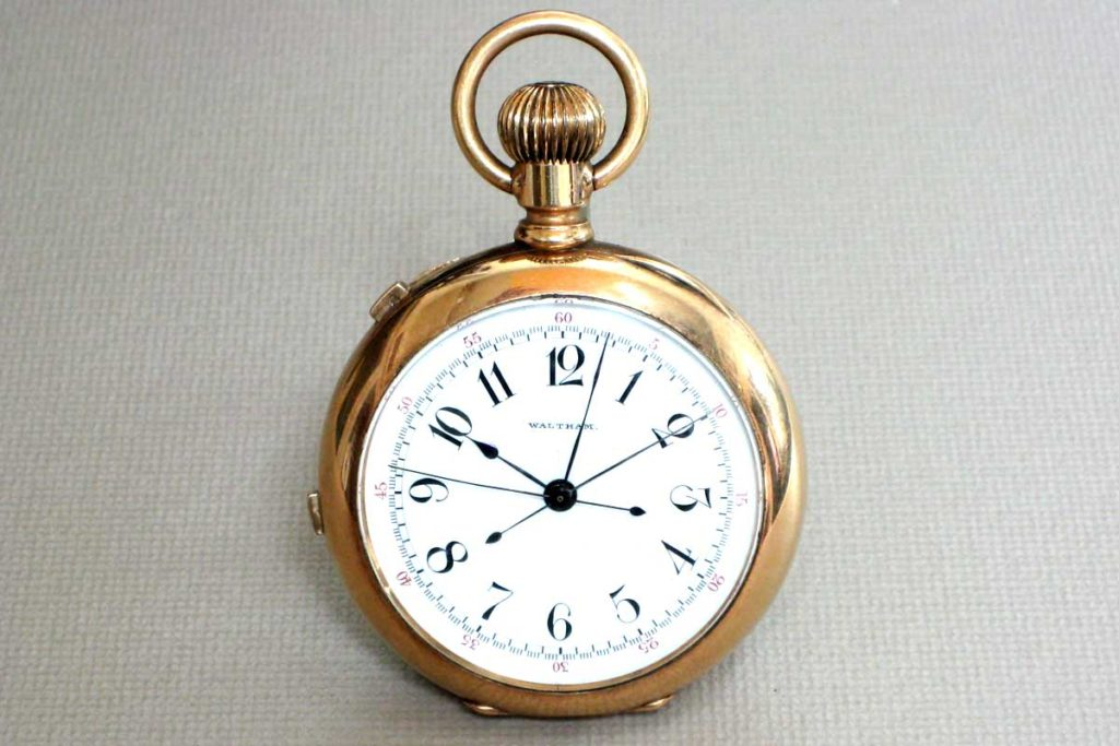 Gold Waltham pocket watch